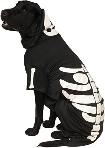 Offizielles Rubie 's Skelett Kapuzenpullover Pet Hunde Halloween (Skelett Halloween Hund)