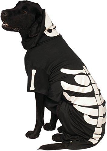 Rubie's Offizieller Skeleton-Kapuzenpullover, Hunde-Kostüm für ()