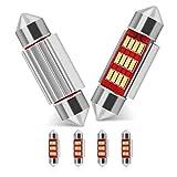 39mm LED Festone Luci Interne, 6pcs Auto Dome Lampadine Auto Cupola del Festoon 12 SMD 5730 LED Lampada LED DC 12V LED luce Illuminazione Interna Bianco