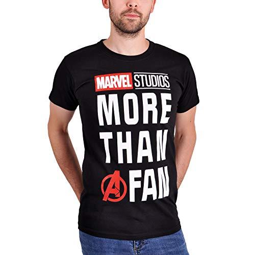 Marvel Camiseta para Hombre Más Que un Fan MCU Algodón Negro - S