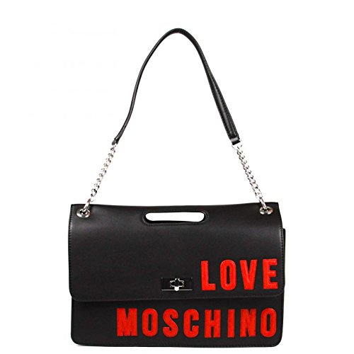 LOVE MOSCHINO Borsa New Lamb Media Rosso Logo Nero JC4258PP02KH
