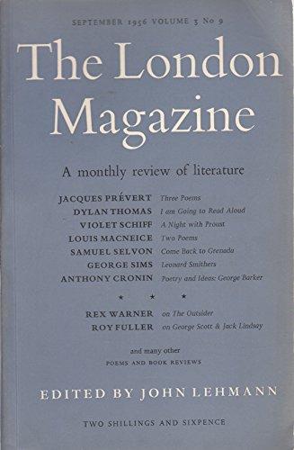 The London Magazine, Volume 3, No. 9, September 1956