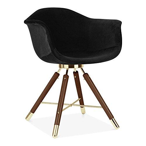 Cult Design Velvet Gepolsterter Sessel, Schwarz