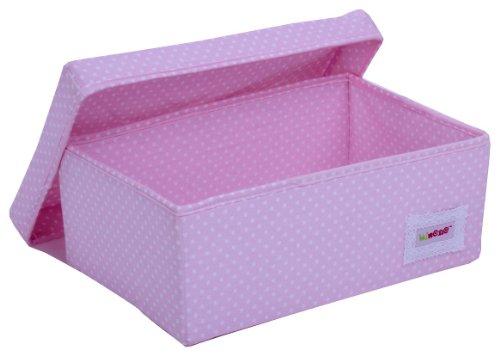 Minene 1512 Aufbewahrungsbox, klein, rosa mit weißen Punkten