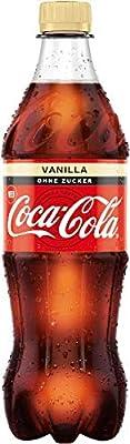 Coca-Cola Zero Sugar Vanilla/Prickelndes koffeinhaltiges Getränk ohne Zucker in praktischen Flaschen mit originalen Vanille Geschmack / 12 x 500 ml Einweg Flasche, 6000 ml
