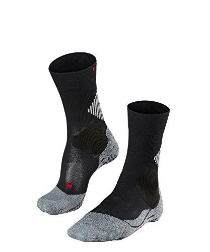 FALKE Unisex Sportsocken Funktionssocken 4 GRIP Stabilizing - schwarz, Gr. 42-43, 1 Paar, mit Kompression & Noppen, feuchtigkeitsregulierend, stabilisierend
