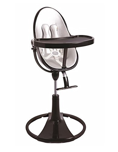 Bloom Baby E10517 Fresco Chrome Schwarz Kinderhochstuhl inklusiv Starter Kid Seat Pad Lunar Silver