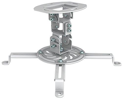 Manhattan Universal Deckenhalterung für Beamer und Projektoren (Traglast bis zu 13,5 kg schwenkbar und rotierbar) 461177 weiß Premier Mounts Ceiling Mount