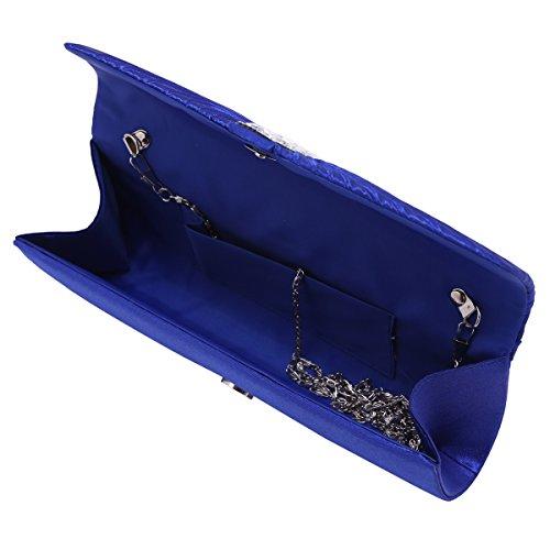 Gigante Damara foreverde piega Satin Elegant-shirtzshop stanotte per catene borsa a tracolla, Nero (nero), Large Nero (nero)