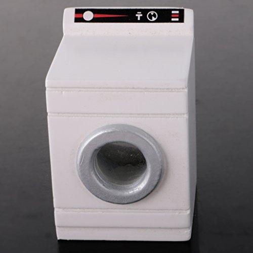 Sharplace 1:12 Mobilia Bagno Miniatura Bambola Lavatrice Mobiletto Casa Artigianali Accessario Legno Bianco