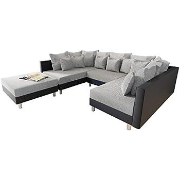Couch u form maße  Big Ecksofa Claudia, XXL Eckcouch mit Schlaffunktion und ...