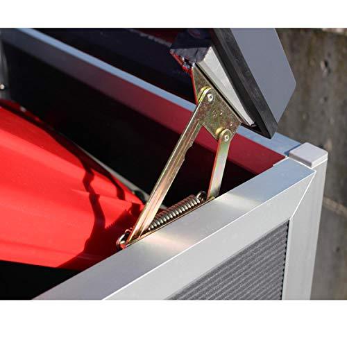Prewood WPC Mülltonnenbox, Mülltonnenverkleidung für 1x 120l Mülltonne grau // 70x68x113 cm (LxBxH) // Gerätebox, Gartenbox & Mülltonneneinhausung - 4