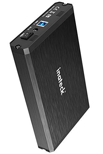 Inateck Festplattengehäuse für 3.5/2.5 Zoll HDD/SSD, SATA III Festplatten Adapter, Aluminium für optimale Wärmeabfuhr, 12V/2A Netzteil