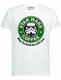 STARWARS COFFEE SCIFI STORMTROOPER WHITE T-SHIRT