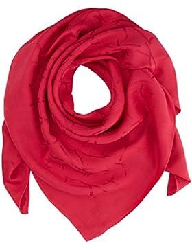 Calvin Klein Damen Schal TIN4 Jacquard Scarf, Rosa (Bright Rose 640), One size