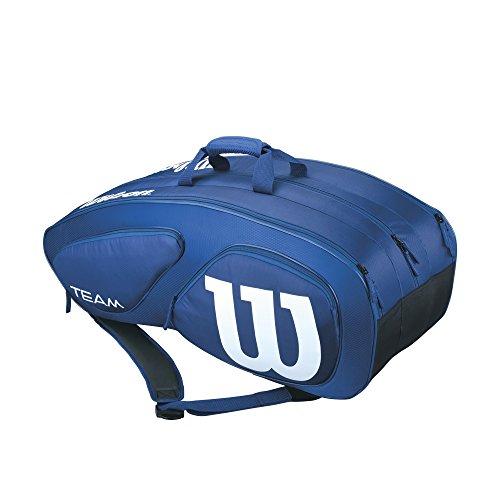 Wilson Damen/Herren-Tennistasche, Für Profis, Team II 12PK, Einheitsgröße, blau, WRZ852612