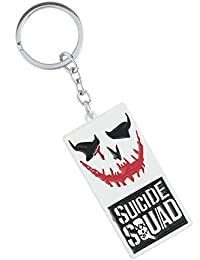 GCT Suicide Squad Logo Joker Smile DC Comics Superhero Character Collectible Metal Keychain | Keyring | Key Chain...
