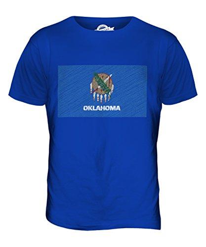 CandyMix Bundesstaat Oklahoma Kritzelte Flagge Herren T Shirt Königsblau