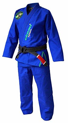 Okami fightgear uomo brasile bjj gi, uomo, colore: blu, dimensioni a4/185-195 cm