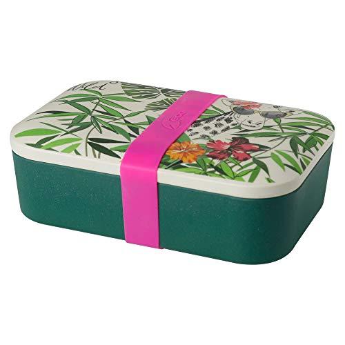 BIOZOYG Nachhaltige Lunchbox Erwachsene Bento Box Bambus Brotbox spülmaschinenfest I Robuste Vesperbox BPA frei Brotdose Bambus Brotzeitbox I Vesperdose Brotzeitdose Motiv Giraffe 19x13x6,5cm 900ml Bambu Bio-bambus