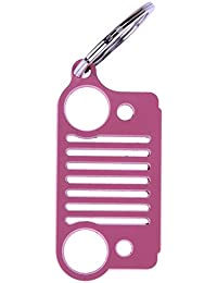 Tomtopp Universal Stainless Steel Jeep Grill Key Chain Key Ring