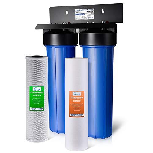 iSpring wgb22b 2-stufige ganze Haus Wasser Filtration System W/20Big Blue Sediment und Carbon Block Filter -