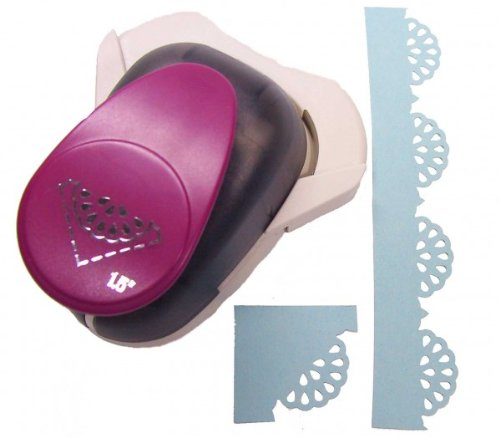 EFCO Punch Doily Spitze Ecke, groß, pink, 38mm/25x 25mm