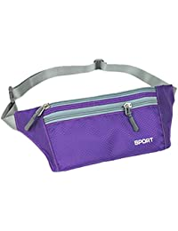 Purple : TOOGOO(R) Unisex Running Bum Bag Travel Handy Hiking Sport Fanny Pack Waist Belt Zip Pouch Orange