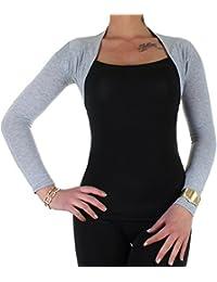 Bolero Damen Blazer Schulterjäckchen in 7 Farben Einheitsgröße von 34 XS - 38 M