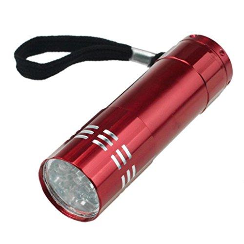 Mini LED wasserdichte Taschenlampe HARRYSTORE neun Lampe Perlen kleine Licht Lampe Taschenlampe (Rot)