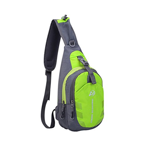 Reefa Unisex wasserdichte Sling Bag Chest Pack Beiläufige Cross Body Bag mit verstellbarem Schultergurt für Outdoor Sports Grün