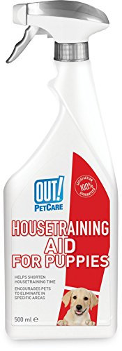 OUT! Indoor and Outdoor Dog & Puppy Training Aid Spray – 500ml