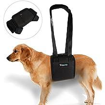 Arnés portátil para perro ascensor apoyo – Arnés para ayuda a perro con debilidad en las patas frontales o traseras, para ayudarlos a pararse, paseo, ...