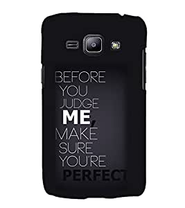 Quote 3D Hard Polycarbonate Designer Back Case Cover for Samsung Galaxy J2 (2016)