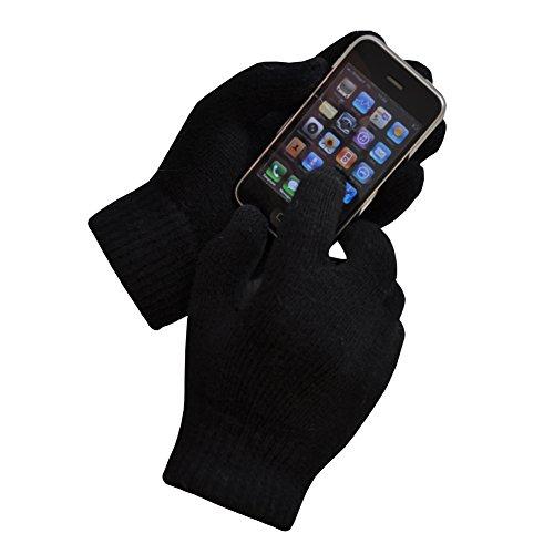TOUTACOO Guantes Táctiles (10 dedos) DE LANA con Forro para iPhone, Samsung y smartphones
