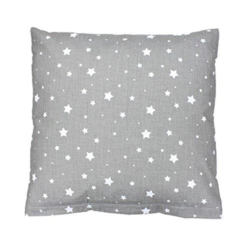 TupTam Kissenbezug Dekokissen Gemustert 100% Baumwolle , Farbe: Sterne Grau, Größe: 40 x 40 cm (Dekoratives Sterne-kissen)