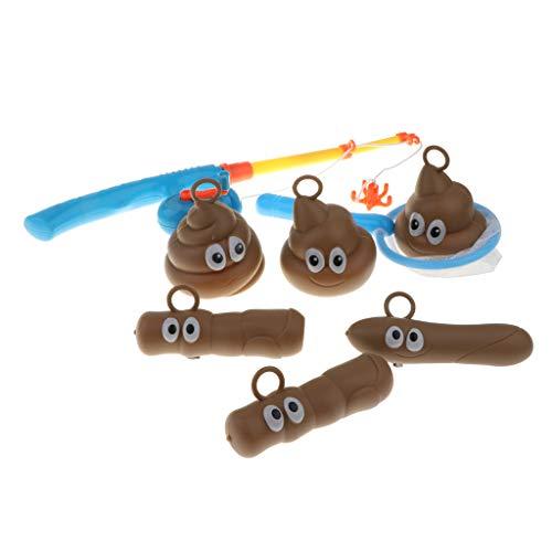CUTICATE Angeln Für Floater Kids Fun Poop Spiel Bad WC Witz Party Streich Gags Spielzeug