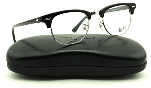 Ray-Ban RX5154 2000 Clubmaster Unisex Eyeglasses Shiny Black Frame 49mm