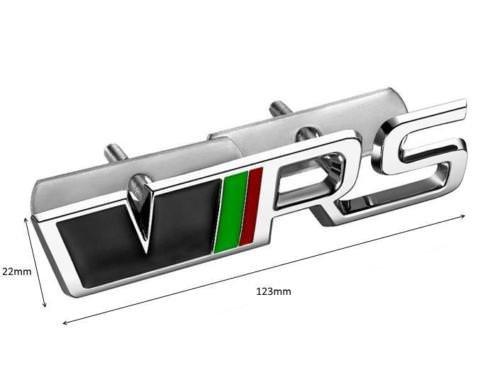 Carbon Genetics Chrom VRS 3D Kühlergrill Emblem Abzeichen mit Montagesatz - Badge Emblem