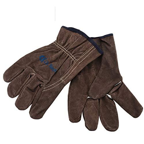 Appliance Pull Natürlichen (880228 Schweißhandschuhe, Leder-Hochtemperatur-Schweißer-Mechanikerhandschuhe, Schweißen, Wärmedämmung, Arbeitsschutz, Industriehandschuhe14x25cm)