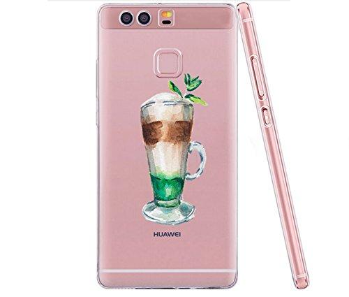 Huawei P9 Case, Teryei® Hybrid Flexible TPU Stoßfänger Apfel Case Persönliche schlanke Kristall Silikon Hülle für Huawei P9 8