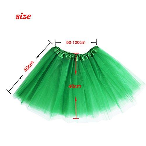 Tutu Rock Petticoat Pettiskirt 3 Layers Tüll Minirock Tanzkleid Unterrock für Fasching Grün