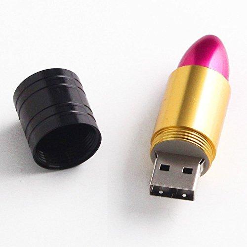 Daorier disco mignon rossetto moda in forma di memoria flash usb disk (16go) 1pc