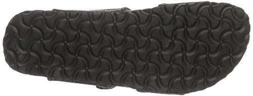 Birkenstock Damen Sydney Textil Pantoletten Schwarz (Metallic Knit Black)