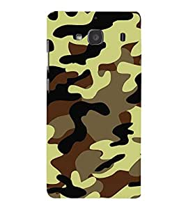 Army Fatigue Pattern 3D Hard Polycarbonate Designer Back Case Cover for Xiaomi Redmi 2S :: Xiaomi Redmi 2 Prime :: Xiaomi Redmi 2