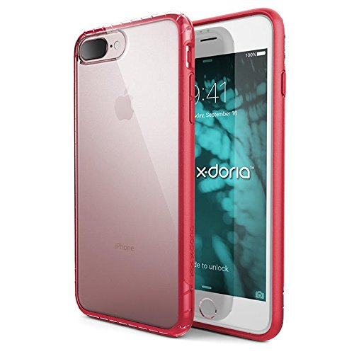 Coque de protection X-Doria pour iPhone 7 Plus (Scene) TPU et polycarbonate transparent, Effacer Rose