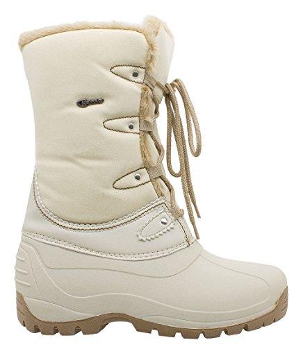 Kefas - Umiak 3129 - Bottes de neige Femme chausson amovible en feutre Beige