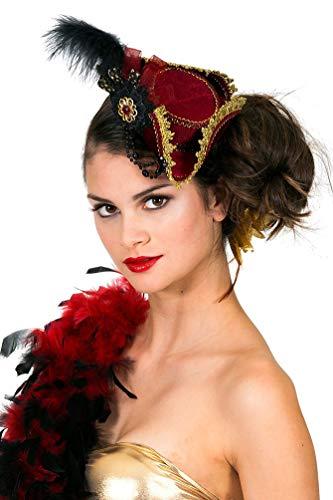 Kleine Kostüm Rote - Karneval-Klamotten Piraten-Hut Damen rot klein Dreispitz Piratin
