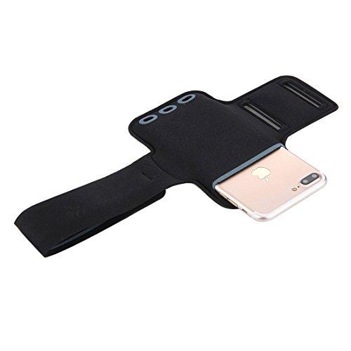 iPhone Case Cover Pour iPhone 7 Plus Cas Armband Sport avec poche clé ( Color : Magenta ) White