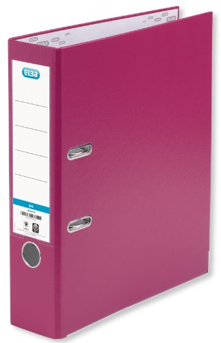 ELBA Ordner smart Pro 10er Pack 8 cm breit DIN A4 pink mit Einsteckrückenschild